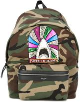 Saint Laurent giant 'Sweet Dreams City' backpack - men - Cotton/Polyester/Brass - One Size