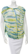 Raquel Allegra Distressed Tie-Dye Top w/ Tags