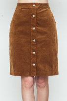 Movint Button Down Camel Skirt
