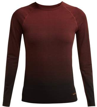 Pepper & Mayne Goddess Ombre Knit Stretch Performance Top - Womens - Dark Red