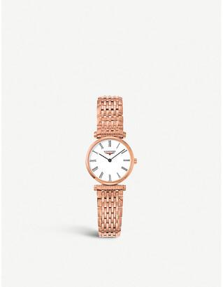 Longines L4.209.1.11.8 La Grande Classique rose gold-plated watch