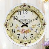 guazhong MCC Wall Clock Disc Solid Wood Wall Clock European Style Simple Fashion Retro Korean Version Mute Quartz Bell