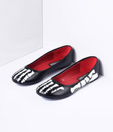 Pleaser USA Black & White X-Ray Skeleton Flats