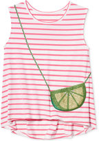 Jessica Simpson Lime Purse-Pocket Striped Tank Top, Big Girls (7-16)