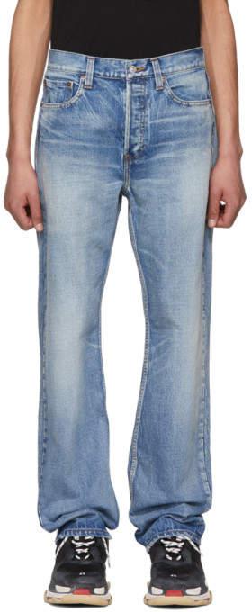 Balenciaga Blue Straight-Leg Jeans