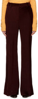 Acne Studios Burgundy Corduroy Tessel Trousers