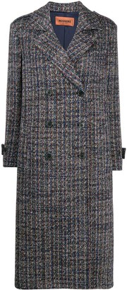 Missoni Double Breasted Tweed Trench Coat