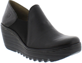 Fly London Black Yua Leather Bootie
