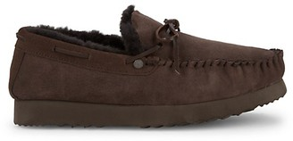 Pajar Mac Faux Shearling Suede Loafer Moccasins
