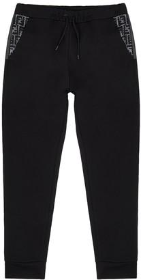 Fendi Black cotton-blend sweatpants