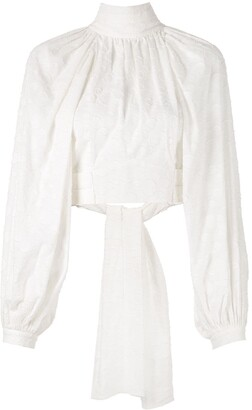 Acler Varden embroidered cropped blouse