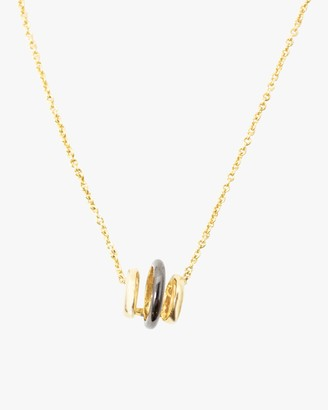Via Saviene Three Band Pendant Necklace