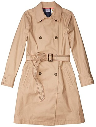 Tommy Hilfiger Adaptive Classic Trench Coat (Travertine) Women's Jacket