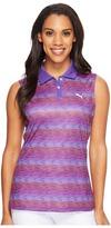 Puma Road Map Sleeveless Polo Women's Short Sleeve Knit