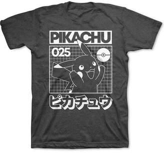 Pokemon Big Boys Pikachu Grid T-Shirt