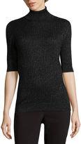 Liz Claiborne Elbow Sleeve Turtleneck Pullover Sweater