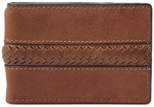 Fossil Men's Francis Money Clip Leather Wallet
