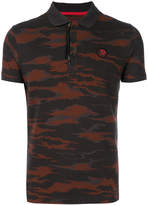 Diesel camouflage print polo shirt