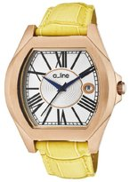 """A Line a_line Women's AL-80008-RG-02-YL """"Adore"""" Rose Gold Ion-Plated Watch with Yellow Leather Watch"""