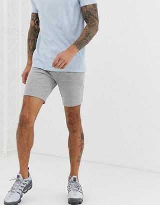 Asos Design DESIGN jersey skinny shorts in grey marl