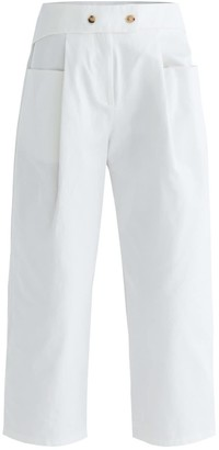 Paisie Nia Cropped Trousers In White