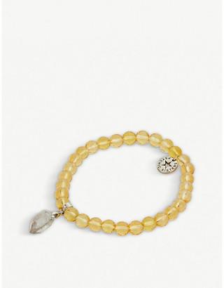 PSYCHIC SISTERS Herkimer diamond and citrine bracelet