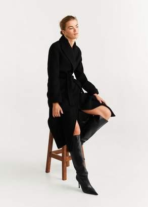 MANGO Heel leather boot black - 6A - Women