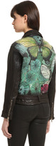 Hand-Painted Baggy Glove Leather Jacket