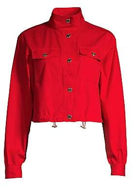 MICHAEL Michael Kors Women's Poplin Cargo Jacket