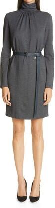 Max Mara Maniero Long Sleeve Wool Blend Jersey Dress