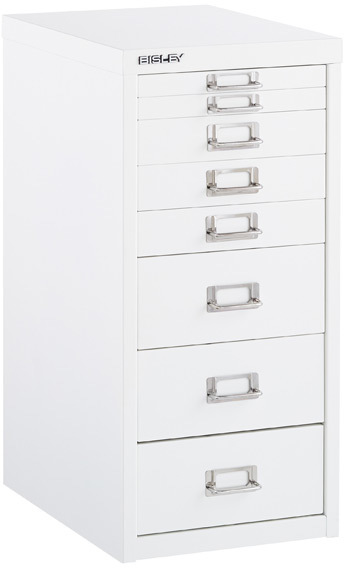 Bisley 8-Drawer Cabinet White