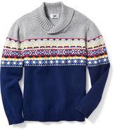 Old Navy Shawl-Collar Fair Isle Sweater for Boys