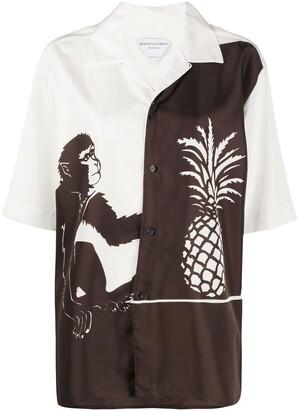Bottega Veneta Monkey Pineapple Printed Shirt