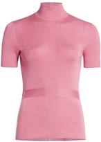 Prada Cashmere & Silk Short-Sleeve Knit Turtleneck