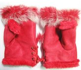 Cocobla Lovely Rabbit Faux Fur Cute Fingerless Gloves Mittens