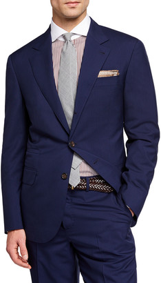Brunello Cucinelli Men's 150GR Travel Solid Wool-Silk Two-Piece Suit