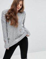 Asos Cable Sweater with Ladder Detail