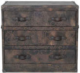 Andrew Martin Howard Crown Studded Fudge Chest Of Drawers