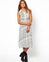 Goldie Printed Midi Dress