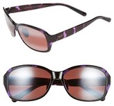Maui Jim Women's Koki Beach 56Mm Polarizedplus2 Sunglasses - Black And Grey Tortoise/ Grey