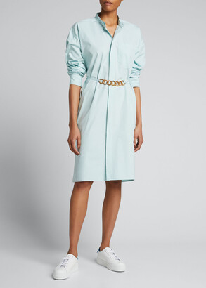 Givenchy Cotton Shirtdress with Placed Print