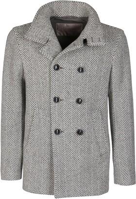 Herno Grey Virgin Wool Blend Coat