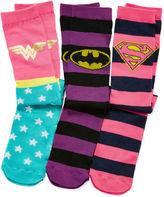 Pink Cookie 3-pk. Superhero Knee-High Socks - Girls 6-11