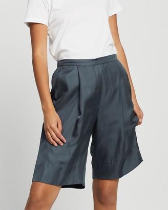 Jac + Jack Indigo Silk Shorts