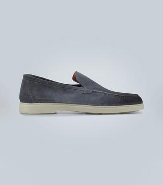 Santoni Rubber-sole suede loafers