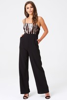 Little Mistress Outrageous Fortune Sequin Stripe Wide Leg Jumpsuit