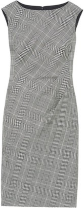 Lafayette 148 New York Della Houndstooth Plaid Dress