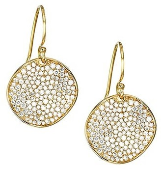 Ippolita Stardust Medium 18K Yellow Gold & Diamond Pave Flower Drop Earrings
