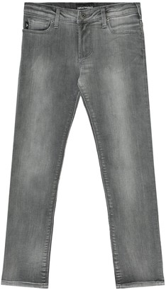 Emporio Armani Kids Cotton-blend jeans