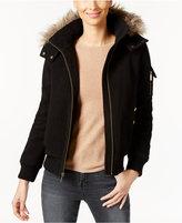 MICHAEL Michael Kors Faux-Fur-Trim Hooded Bomber Jacket